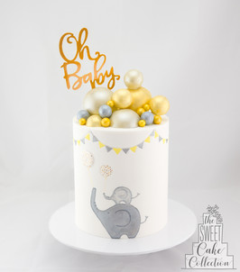 Elephants on Fondant with Chocolate Spheres