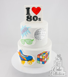 80's Theme on Fondant