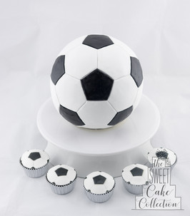 Soccer Ball with Cupcakes
