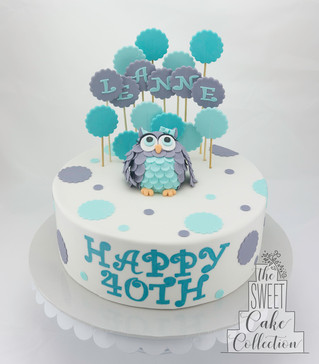 3D Owl on Fondant
