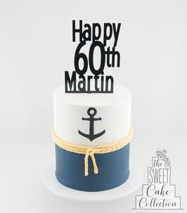 Nautical Theme Painted on Fondant