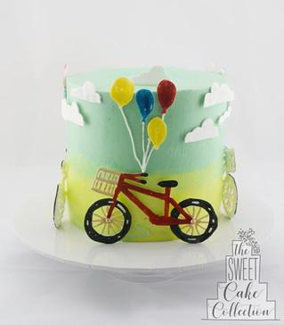 Bikes and Balloons Theme on Buttercream