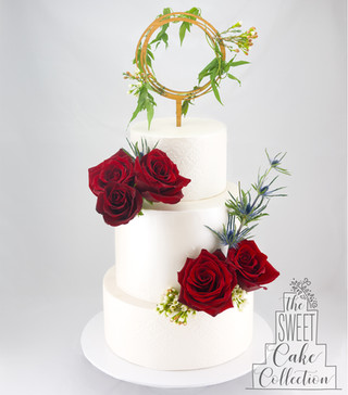 Textured Fondant and Flowers