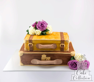Suitcases with Flowers