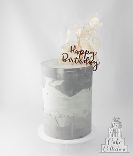 Concrete Birthday Cake