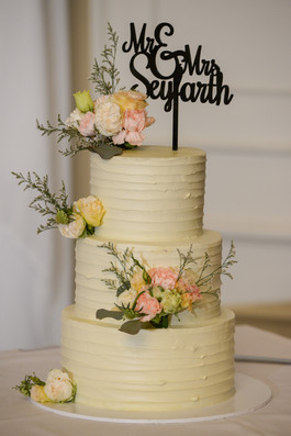 Textured Buttercream with Flowers