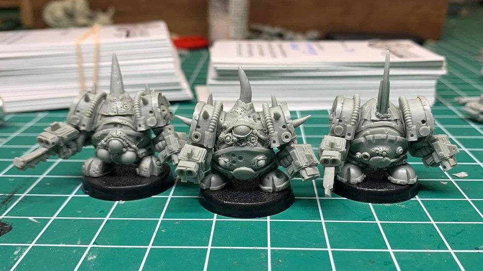 Rotten Eggbot Exo-Armour Squad (3 models)