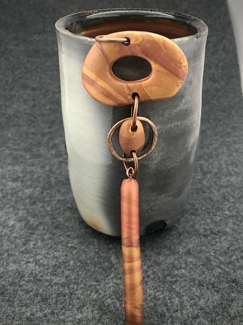 Three part copper pendant