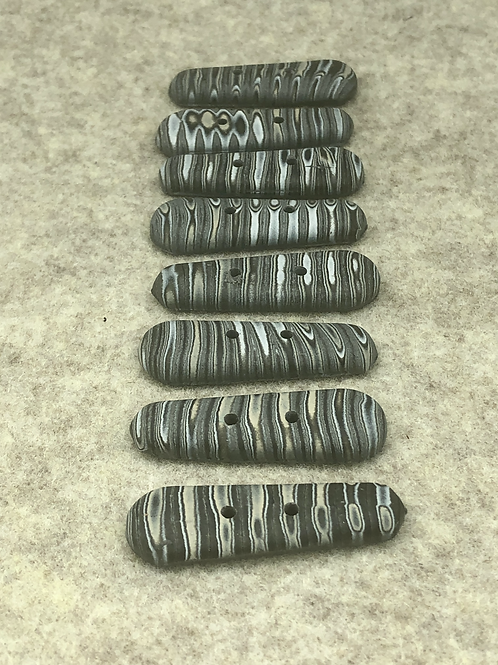 Organic stripes long buttons
