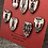 Thumbnail: Small black, white and red set of 7