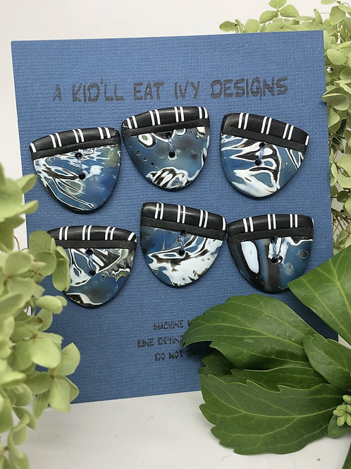 Blue graphic set of 6
