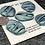 Thumbnail: Large pleated teal buttons