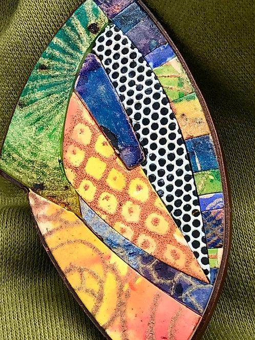 Bright melange brooch