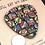 Thumbnail: Colorful mosaic focal button
