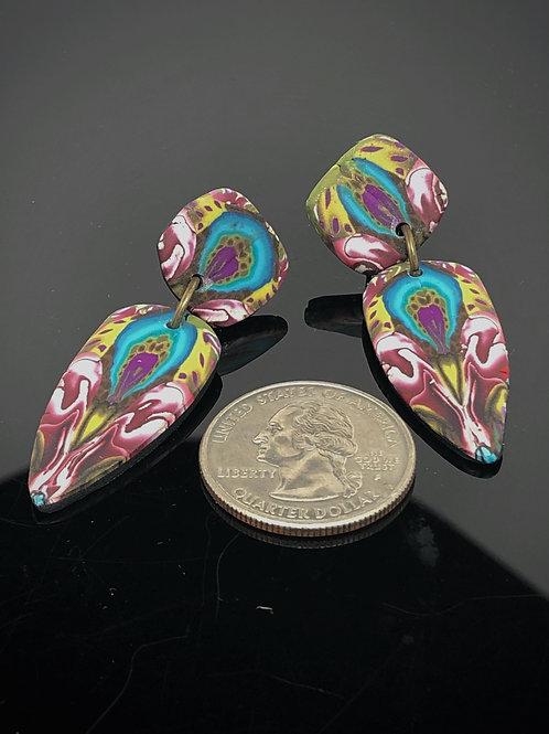 Peacock eye earrings
