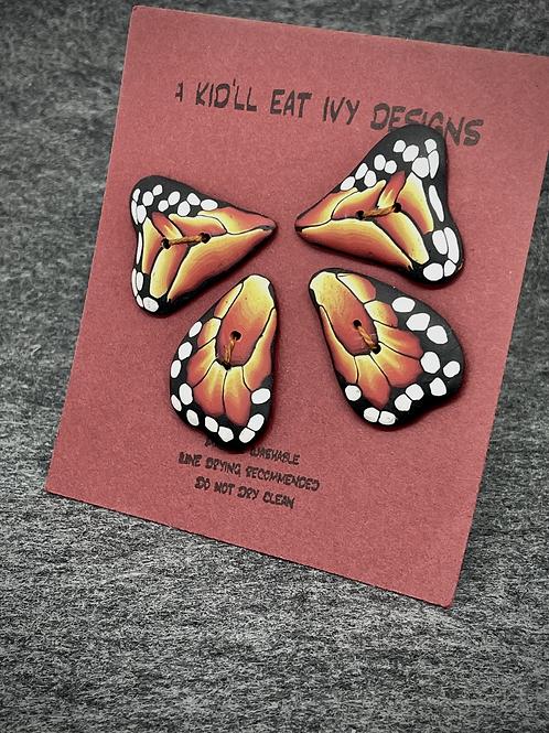 Monarch wings set of 4