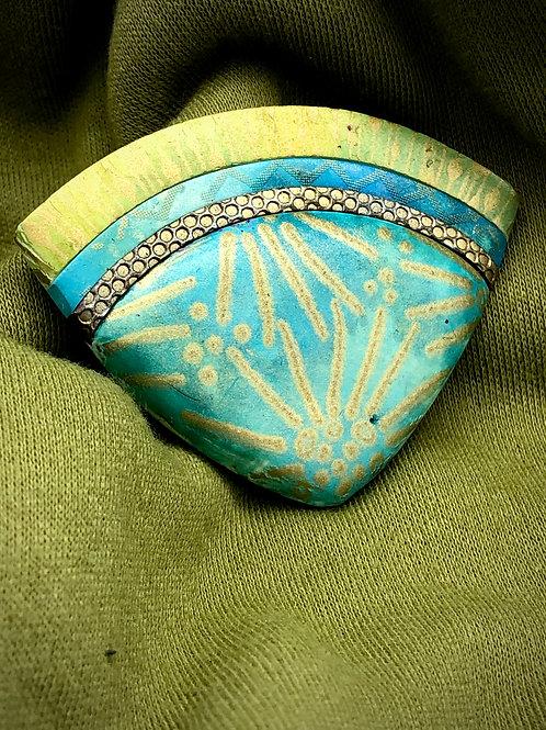 Turquoise Sun Brooch