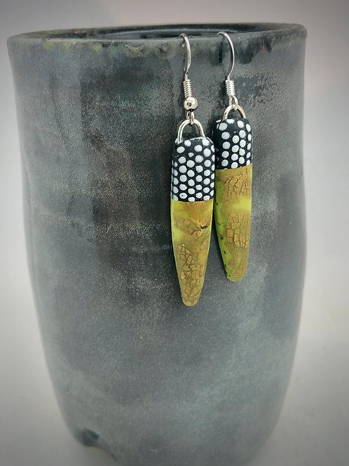 Green dip earrings
