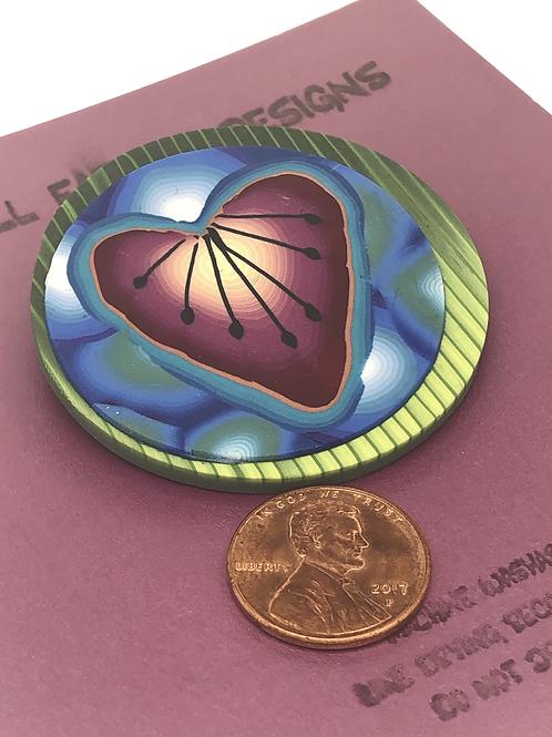 Heart shaped petal