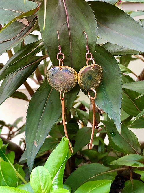 Faux stone with copper dangles