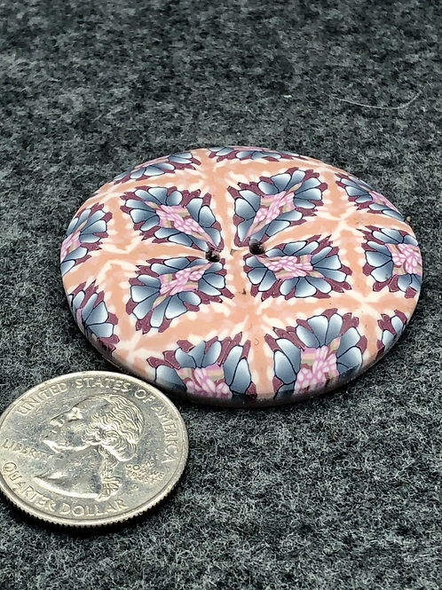 Peach blossoms focal button