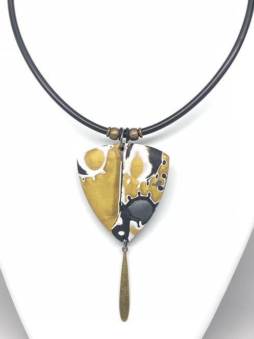 Gold and black mokume gane