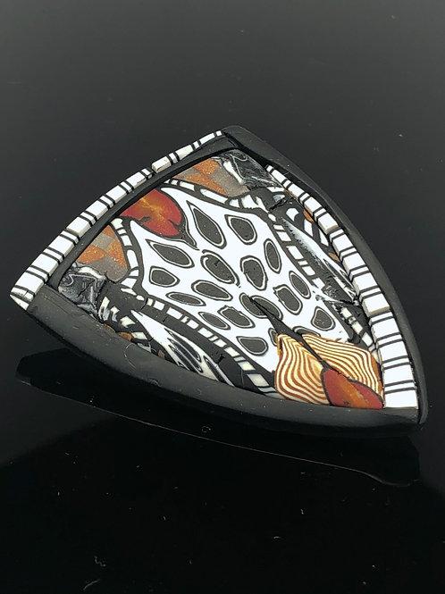 Tribal shield brooch