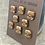 Thumbnail: Little brown buttons set of 8