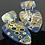 Thumbnail: Large blue and gold mokume shields