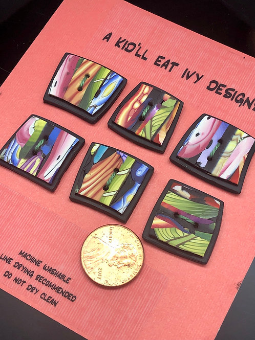 Colorful fragments set of 6