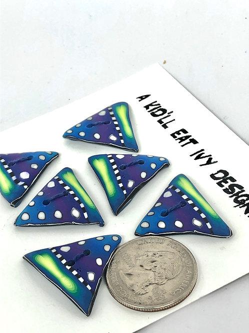 Bright dotty triangles set of 6