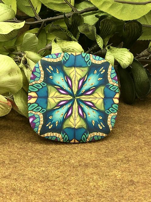 Kaleidoscope in Teal