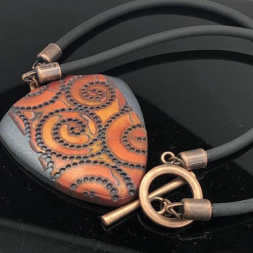Copper Labyrinth Pendant