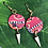 Thumbnail: Red graphic earrings
