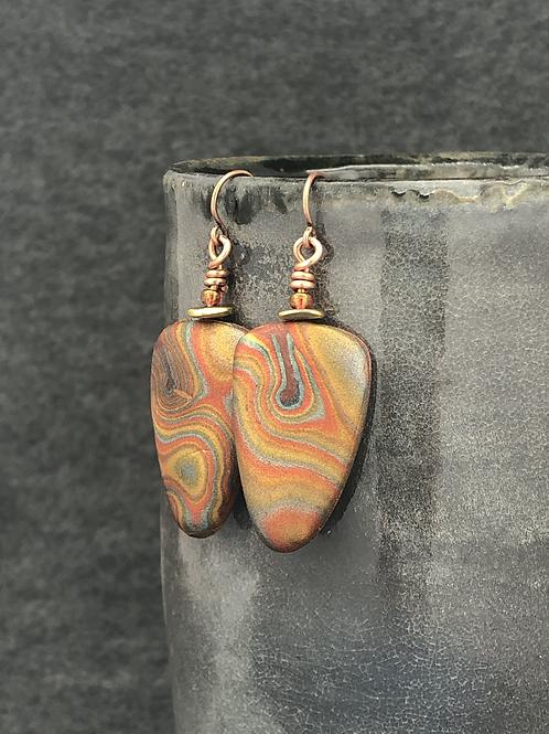 Swirl and glow earrings