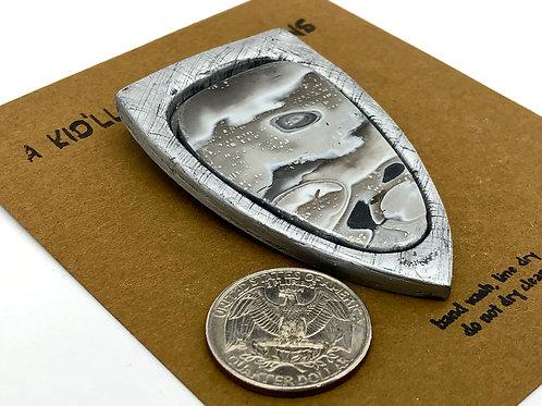Silver Mokume gane technique