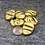 Thumbnail: Olive metallic pleated buttons