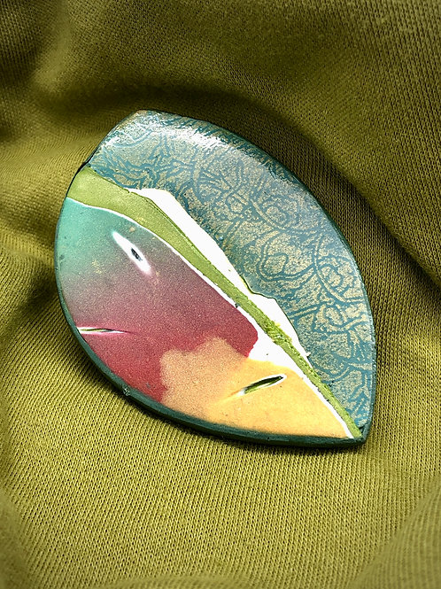 Large abstract brooch
