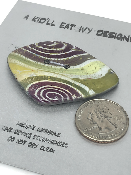 Purple swirl focal button