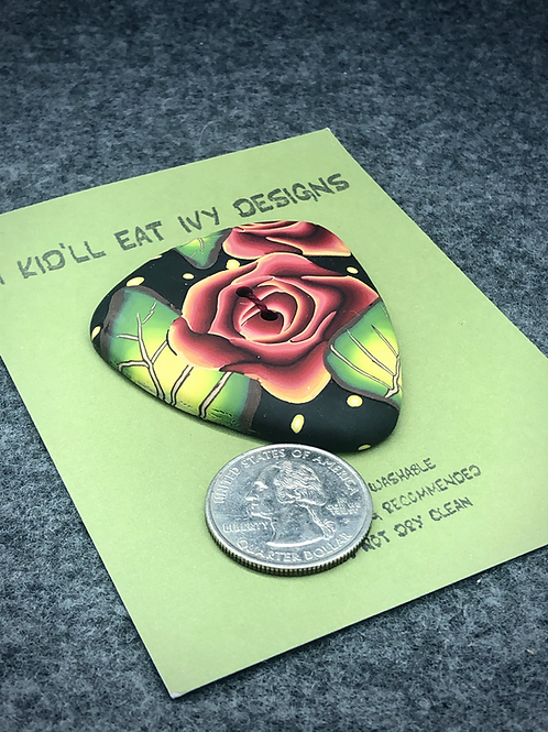 Midnight rose focal button