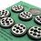 Thumbnail: Ivory and black dot set of 7 large