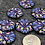 Thumbnail: Big blue intricate buttons set of 7