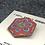 Thumbnail: Red Kaleidoscope Focal Button