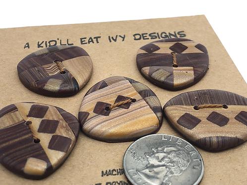 Wood inlay set of 5 large