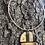 Thumbnail: Textured metals circle pendant