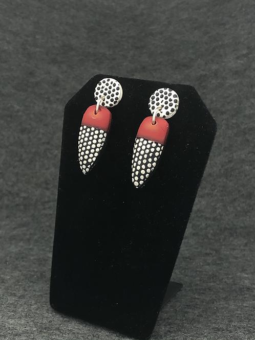 Red dot earrings