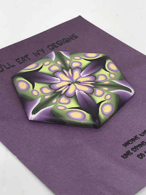 Kaleidoscope in purple and green