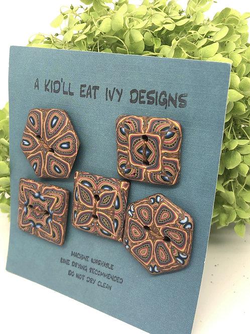 Kaleidoscopes in brown
