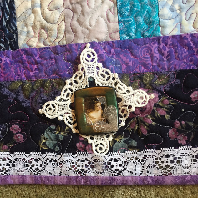 Close up from Pass Around Group Quilt