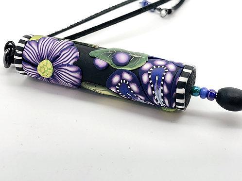 Violet applique cylinder